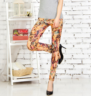 Cotton graffiti leggings