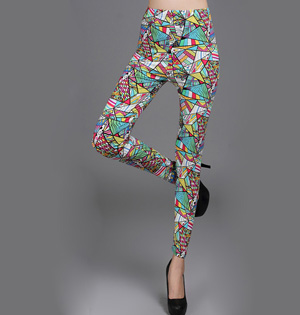 Rendering pattern leggings wholesale
