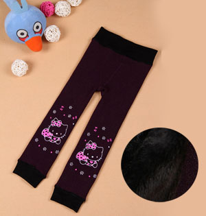 Warm cashmere leggings for kids