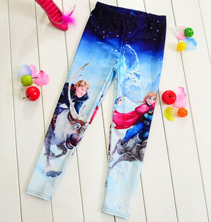 Frozen stars kids leggings wholesale