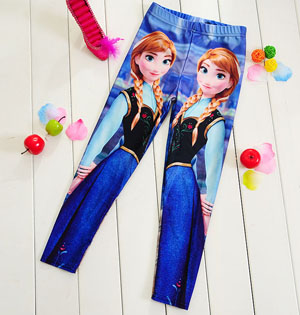 Kids cartoon frozen leggings digital printing