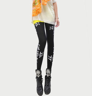 Pattern print women stretch leggings