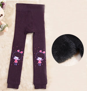 Wholesale kids shiny winter leggings