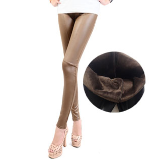 Leather skinny pants for women