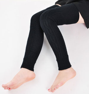 Wholesale knitted wool leg warmers