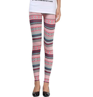Ethnic snowflake hue leggings wholesale