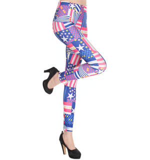 American flag hue leggings wholesale