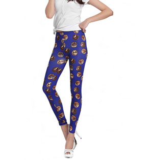 Wholesale Money printing purple leggings