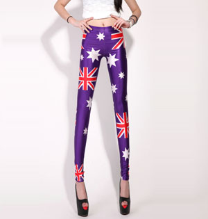 Wholesale British flag high waisted leggings