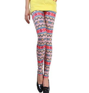 Fashion Ethnic hue leggings wholesale
