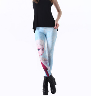 Girls cute decoration patterned leggings