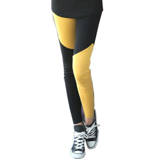 Stitching hit color girls leggings wholesale