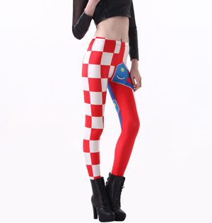 Croatian flag patterned leggings wholesale