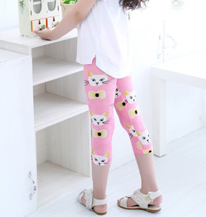 Cats children summer stretch leggings