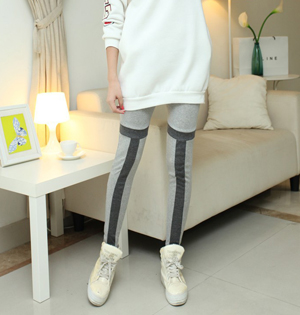 English alphabet stitching legging outfits