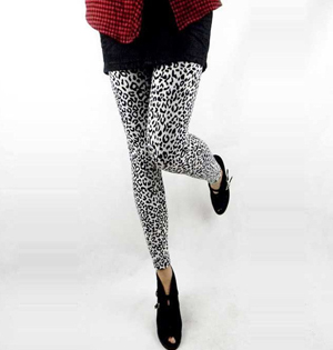 Leopard pencil pants pattern leggings