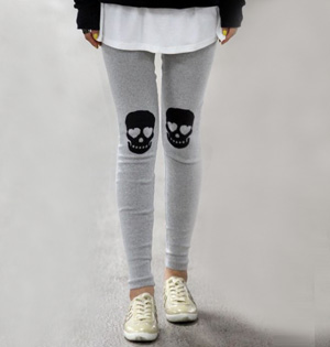 Skull head velour leggings wholesale