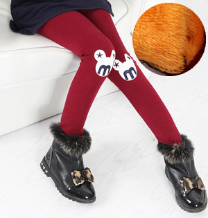 Kids velvet leggings as pants wholesale