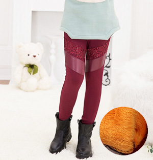 Wholesale kids cotton velvet leggings