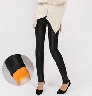 Leather stretch velvet leggings wholesale