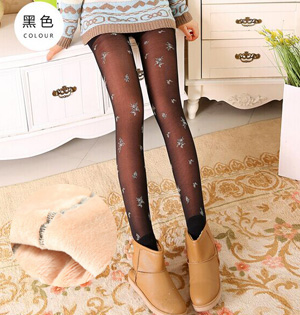 Winter warm fleece leggings wholesale