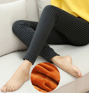 Wholesale stripe velvet leggings
