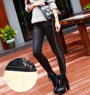 Wholesale leather winter leggings