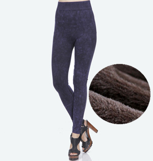 Wholesale denim velvet leggings pants