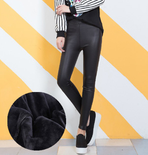 Wholesale stretch leather velvet leggings