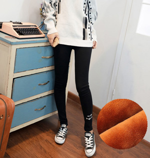Letter embroidery cotton leggings wholesale