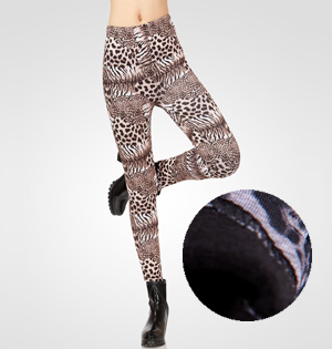 Leopard velvet leggings wholesale
