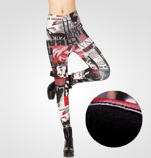 Wholesale velvet patterned leggings