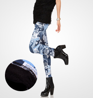 Wholesale fashion velvet patterned leggings