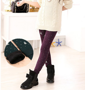 Velvet kids leggings wholesale