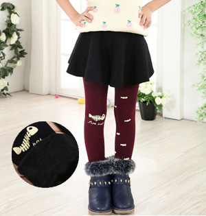 Wholesale winter warm leggings kids