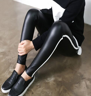 Wholesale winter leather leggings