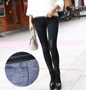 Wholesale thick leather leggings