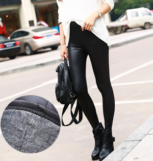 Wholesale winter warm velvet leggings leather