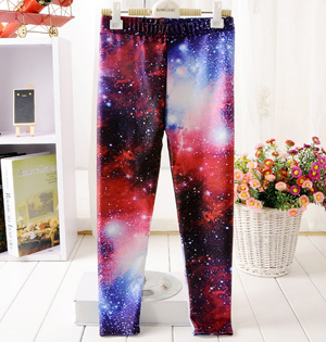 Kids galaxy leggings wholesale