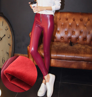 Leather stretch fabric for leggings