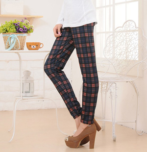 Wholesale plaid cotton leggings women