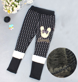 Children warm pants leggings