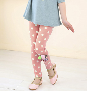 Kids dotted leggings wholesale
