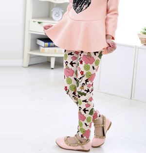 Kids floral print leggings wholesale