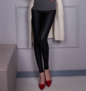 Womens black leather pants