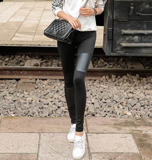 Wholesale stretch leather leggings