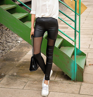 Women sexy leather leggings wholesale