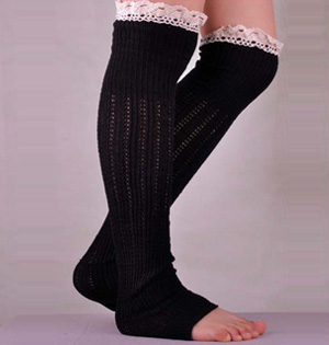 Knitted cotton leg cover socks wholesale
