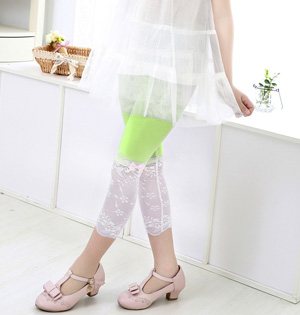 Wholesale kids lace summer leggings