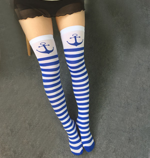 Cosplay striped knee stockings wholesale